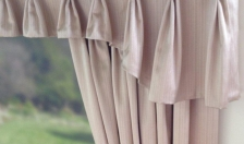 pinch pleat valance with buttons