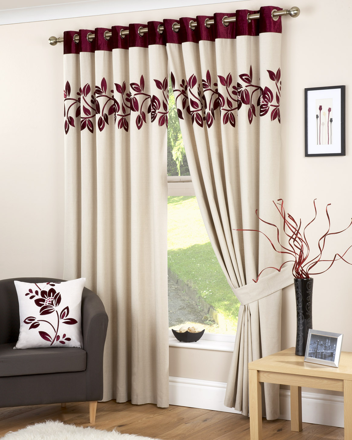 dp panel lush inch x decor pair white curtain home set amazon window black of curtains cream prima kitchen and com